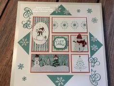 Winter Sampler Featuring Let it Snow - Create Something Beautiful! Christmas Gift Sets, Christmas Frames, Stampin Up Christmas, Christmas Cards, Let It Snow, Let It Be, Puff Paint, Stamping Up, Rubber Stamping