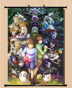 Japanese New Anime Undertale Home Decor Poster Wall Scroll Birthday Gift #SS-32