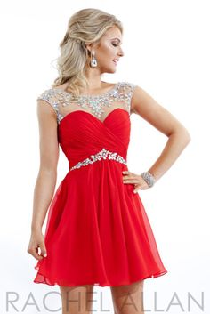 eb507e2162a Homecoming Dresses Red Sleeveless Hollow Chiffon Above-Knee Bateau Homecoming  Dress PromDresses CocktailDresses
