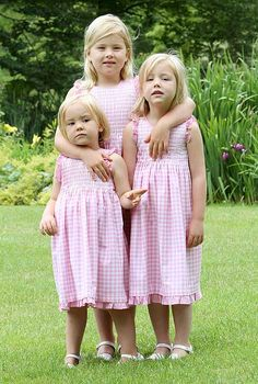 Even in the Netherlands....smocking is popular.....Princess Catharina-Amalia ,Princess Alexia,  and Princess Ariane.
