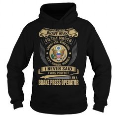 Brake Press Operator T Shirts, Hoodies. Check price ==► https://www.sunfrog.com/Jobs/Brake-Press-Operator--Job-Title-Special-Black-Hoodie.html?41382