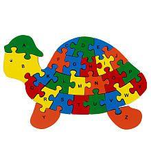 Imaginarium Turtle Wooden Alphabet Puzzle