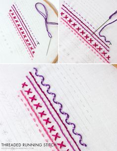 hand embroidery stitches tutorial step by step Embroidery Hearts, Hand Embroidery Flowers, Embroidery Stitches Tutorial, Embroidery Sampler, Flower Embroidery Designs, Embroidery Patterns Free, Learn Embroidery, Embroidery For Beginners, Embroidery Techniques