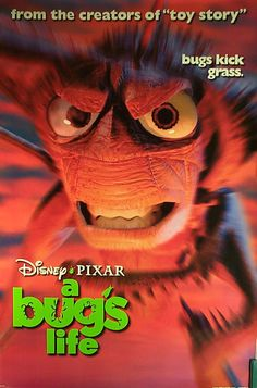"Movie Poster    ""A Bug's Life""       Original 1997 Movie Poster One-Sheet       Bugs Kick Grass!     DISNEY by MoviePostersAndMore on Etsy"