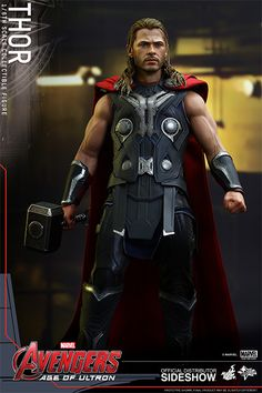 Hot Toys : Avengers: Age of Ultron - Thor scale Collectible Figure Best Action Figures, Thor 1, Black Widow Scarlett, Superhero Villains, The Mighty Thor, Comic Games, Halloween Cosplay, Cosplay Costumes, Fantastic Four