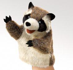 Little Raccoon Hand Puppet 12.95