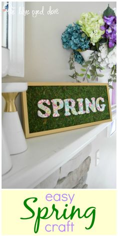 An easy spring craft featuring moss! theblueeyeddove.com #moss #springcrafts #spring #springdecor