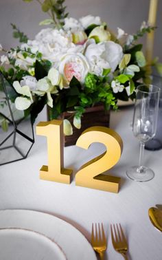 Wedding Table Numbers for Reception Table by ZCreateDesign on Etsy
