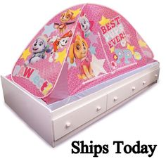 ??NEW? Nickelodeon Paw Patrol Skye 2-in -1 Bed Playtime FUN  sc 1 st  Pinterest & Amazon.com - Bubble Guppies Bed Tent - | Kids | Pinterest | Future ...