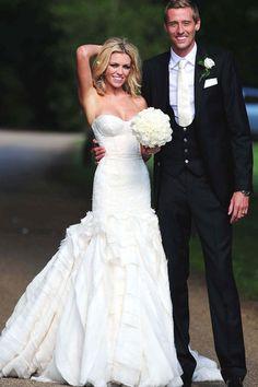 Strapless bustier wedding dress