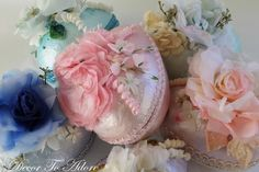 Decor To Adore: Shabby Chic Floral Easter Eggs Tutorial