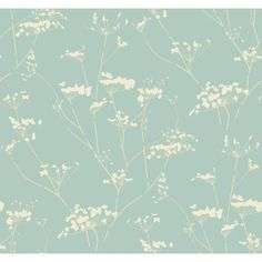 "Modern Luxe Enchanted 33' x 20.5"" Botanical Wallpaper 