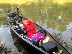 Our new canoe. Old Town Saranac 146 w/ Minn Kota C2 trolling motor.