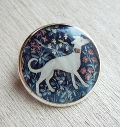 """Brooch """"Dog - The Lady and the Unicorn"""""""