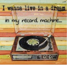 Record machine.