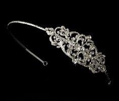 Amazon.com : Adrienne Bridal Headband with Exquisite Rhinestone Vintage Side Accent : Fashion Headbands : Beauty