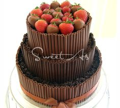 Chocolate Cigarellos with Strawberries