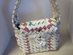 Tramp art cigarette wrapper purse. This was an ebay item. | Tramp Art, Hobo Art, Prison Art