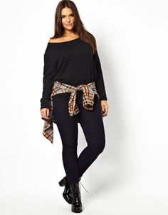 a2648fed5ef83 Enlarge ASOS CURVE Exclusive Off Shoulder Top With Long Sleeves Miss Mondo