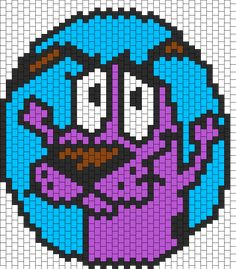 Multi Stitch Courage Bead Pattern | Peyote Bead Patterns | Characters Bead Patterns
