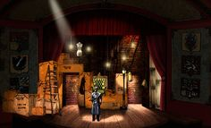The 39 Steps. Rendering. Scenic design by Shawn Fisher.