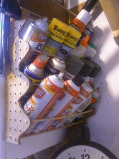 Spray cans storage: Cheap, quick & compact - The Garage Journal Board