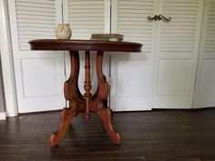19th Century Victorian Oval Pedestal Side Table | Chairish Butler Table, Pedestal Side Table, 19th Century, Dining Table, Victorian, Vintage, Furniture, Design, Home Decor
