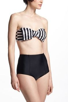 "Bow Vintage Bikini {""Sherry Striped Bikini"" Anthropologie} $83-87"