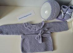 Conjunto de punto en morado empolvado|Bicarica|Ropita artesanal para bebés y niños/Ropa artesanal para bebé hecha en casa/Handmade baby clothes