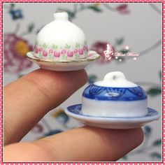 Dollhouse Miniature 1:12 Toy Kitchen 2 Pairs of Plate Dish With Lid D3cm L-211 | eBay