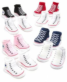 Converse Baby Socks, Baby Boys or Girls Booties Two Pack -- For Presley