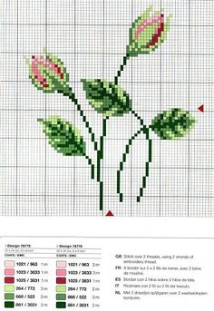 you'd have to enlarge the view on your computer (ctrl +) Cross Stitch Cards, Cross Stitch Borders, Cross Stitch Rose, Cross Stitch Flowers, Cross Stitch Designs, Cross Stitching, Cross Stitch Embroidery, Embroidery Patterns, Hand Embroidery