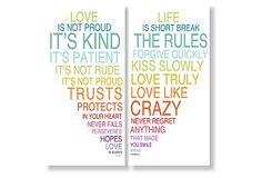 Love Is & Life Is prints