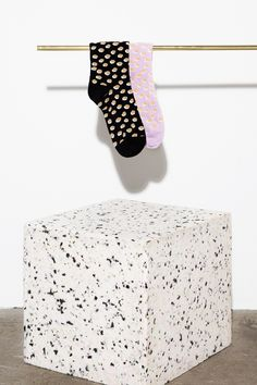 Stine Goya Hank - Socks (Dots Black) | Adélie