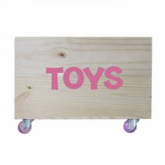 CAIXOTE MOLD PINUS/ROSA RODINHA TOYS 10634 Toy Chest, Storage Chest, Vintage, Furniture, Home Decor, Crates, Creative Gifts, Infant Room, Creativity