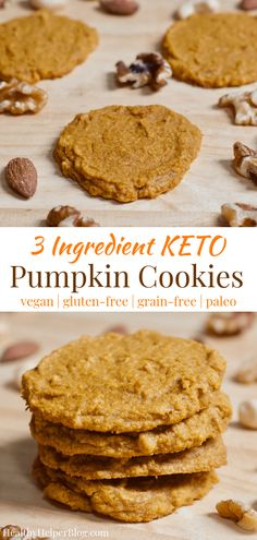 Healthy Ingredient Pumpkin Cookies Thebigmansworld Com - These Healthy Ingredient Pumpkin Cookies Are Soft Chewy And Take Less Than Minutes To Whip Up They Are An Easy Snack Or Breakfast Option Naturally Gluten Free And Vegan There Is An Option To Gluten Free Pumpkin Cookies, Keto Cookies, Healthy Cookies, Protein Cookies, Protein Snacks, Keto Snacks, High Protein, Keto Vegan, Vegan Gluten Free