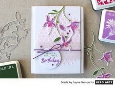 Color Layering Fuchsia by Jayne Nelson for Hero Arts