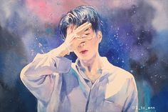 Kim Song, Kpop Fanart, Seventeen, Chibi, Rapper, Fan Art, Inner Circle, Watercolor, Drawings
