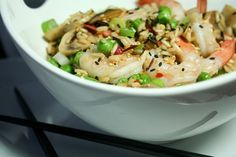 Ginger Shrimp Fried Rice • The Healthy Foodie