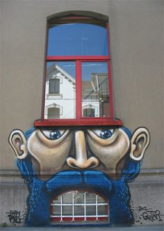 Top 10 Creative Buildings, Street art on building
