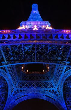 Paris: Eiffel Tower - Paris    Paris celebrated the French EU presidency illuminating blue the Eiffel Tower >> See the Deals!