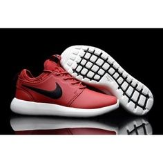 99fa7eb01180a Roshe Two Low Leather Shoes Red Black White on We Heart It