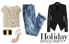 Sequins and Leather Blazer to your Holiday Office Party! #Fashion #Style
