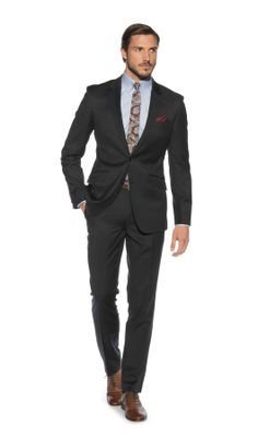 Banbury Slim Fit 2-Button Charcoal Tonic Suit, 40 regular jacket and 34 short trousers!