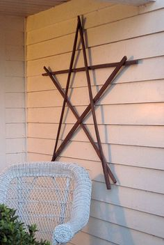 Tobacco stick star---i made one of these today--my grandfather was a farmer so i have access to them