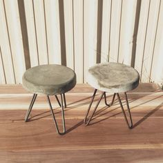 Industrial reclaimed Modern Concrete stool. by triple7recycled