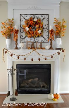 Kicking off Fall with Our 2015 Fall Mantel ... | Adventures in Decorating | Bloglovin'