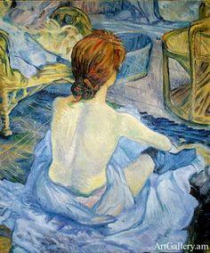 """Henri De Toulouse-Lautrec Famous Paintings   Henri de Toulouse- Lautrec – """"La toilette""""   Art Gallery"""