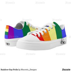 Rainbow Gay Pride Printed Shoes from Ricaso