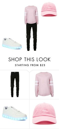 """Untitled #53"" by gummybearkia on Polyvore featuring AMIRI, Topman, Wize & Ope, OBEY Clothing, men's fashion and menswear"